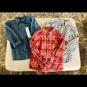 Sonoma Lot of 3 LS button down shirts, boy's sz 6
